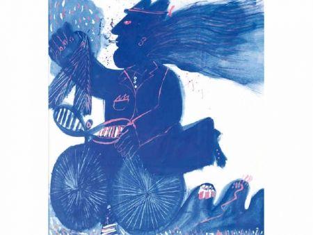 技術的なありません Fassianos - Homme et bicyclette bleue