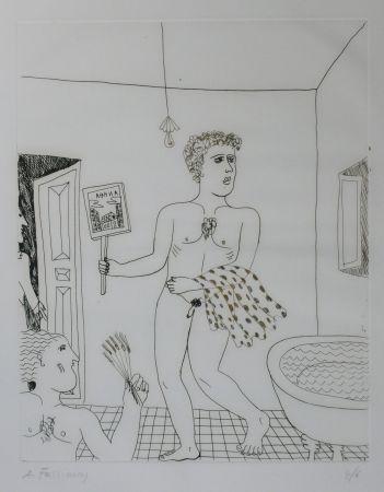 ポイントーセッシュ Fassianos - Homme sortant du bain