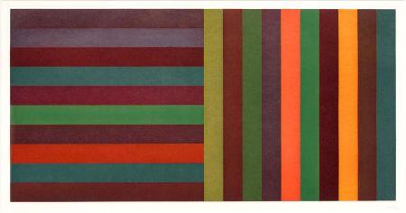 エッチングと アクチアント Lewitt - Horizontal Color Bands and Vertical Color Bands II