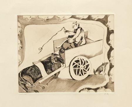 彫版 Toledo - Horse and Carriage