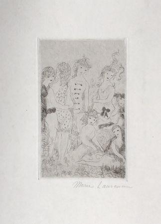 彫版 Laurencin - Huit filles dans un pré