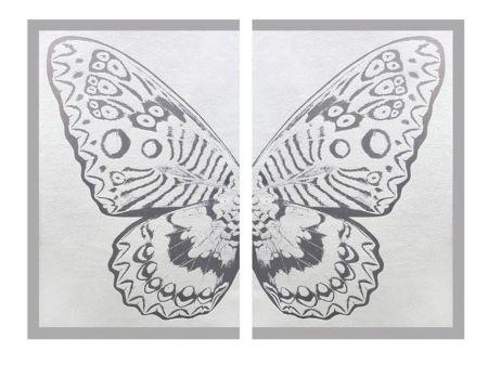 多数の Robierb - Hybrid Silver Butterfly ll on White