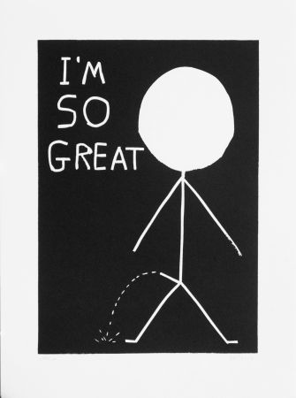 リノリウム彫版 Shrigley - I am so great