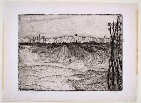 彫版 Bozzetti -  I CAMPI DEVASTATI DALLA PIENA (The fields devastated by the flood), second version.