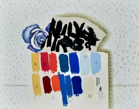 リトグラフ Pozzati - I campioni colorati