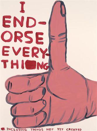 シルクスクリーン Shrigley - I Endorse Everything