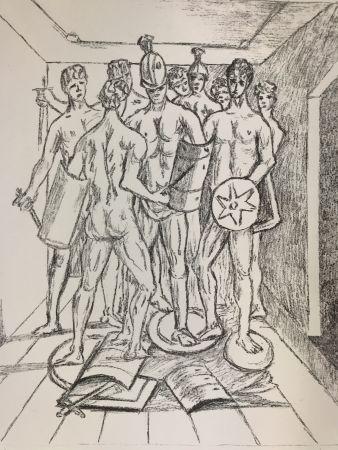 リトグラフ De Chirico - I gladiatori
