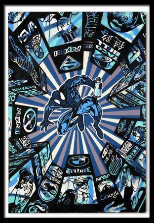 シルクスクリーン Speedy Graphito - I Spray My City (Blue)