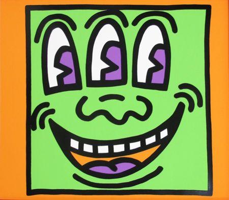 シルクスクリーン Haring - Icons (E) - Three Eyed Man