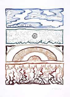 彫版 Alechinsky - Idem Polychrome
