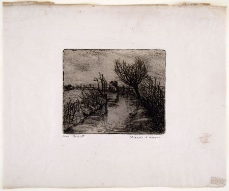 彫版 Bozzetti - IL CANALE D'INVERNO (The canal in winter)
