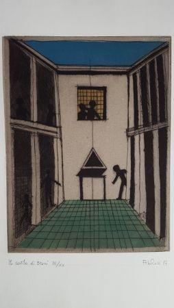 エッチングと アクチアント Rossi - Il cortile di Broni