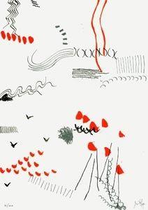 リトグラフ Griffa - Il figlio dell'osso parla