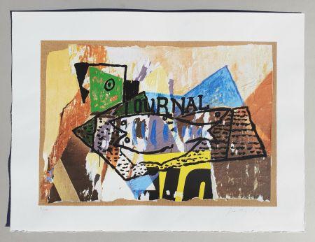 シルクスクリーン Rotella - Il giornale di Picasso