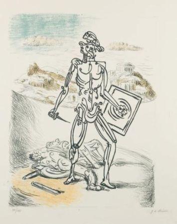 リトグラフ De Chirico - Il Gladiatore