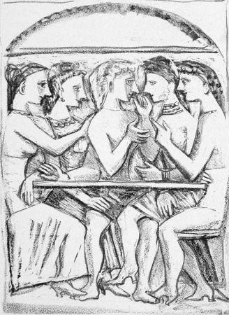 リトグラフ Campigli - Il pasto