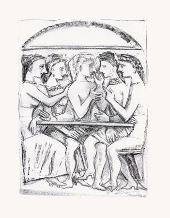 リトグラフ Campigli - Il Pasto (Theseus)