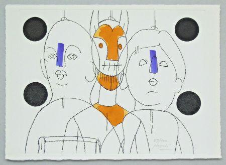 彫版 Pozzati - Il pittore è il burattinaio
