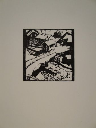 木版 Giacometti - Il ponte al sole, die Brücke in Stampa
