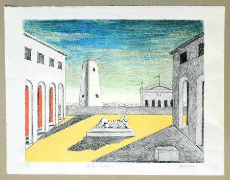 リトグラフ De Chirico - Il riposo di Arianna