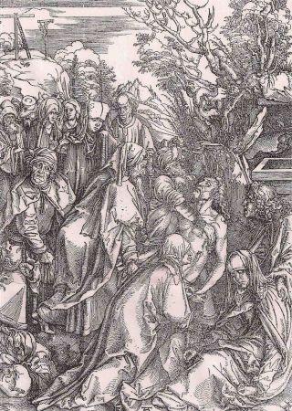 彫版 Durer - Il seppellimento