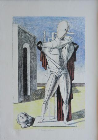 リトグラフ De Chirico - Il trovatore solitario