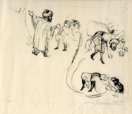 リトグラフ Corinth - Illustration zu 1001 Nacht