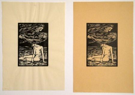 """木版 Hofer - Illustrationen zu Hans Reinhart """"Der Tag"""""""