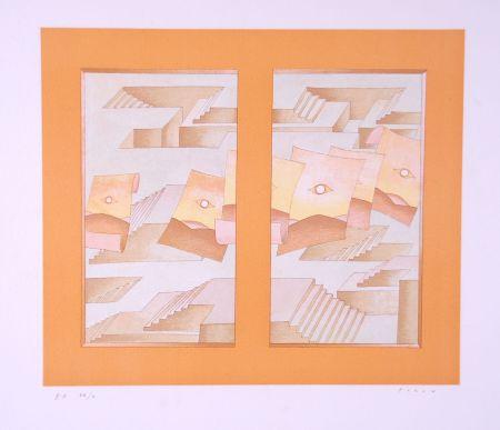 リトグラフ Folon - Image pour Berggruen
