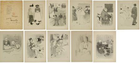 リトグラフ Hermann-Paul - Images pour les Demoiselles