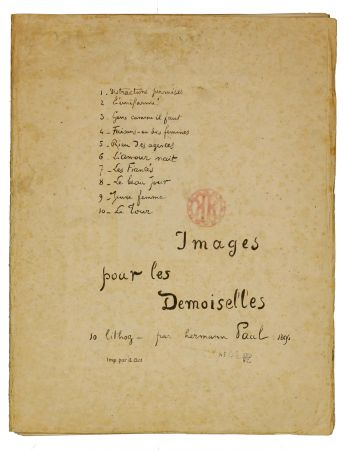リトグラフ Hermann-Paul - Images pour les Demoiselles (covert)