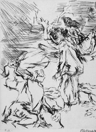 エッチング Kokoschka - Imaginares Bildnis des Aritophanes