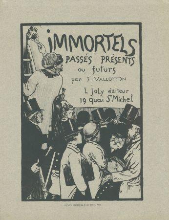 リトグラフ Vallotton - Immortels passés, présents ou futurs