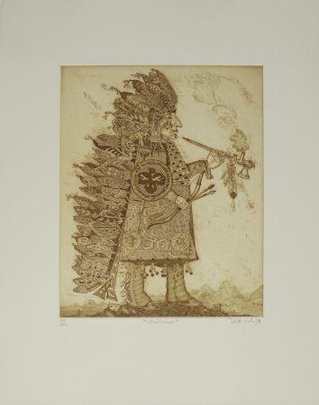彫版 Dittrich - Indianer / Indian