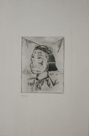彫版 Tappert - Indianer / Indian