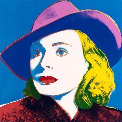 シルクスクリーン Warhol - Ingrid with Hat