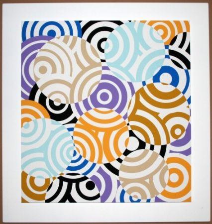木版 Asis - Interferences cercles de couleurs