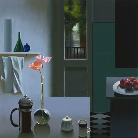 技術的なありません Cohen - Interior with Coffee Pot and Poppies