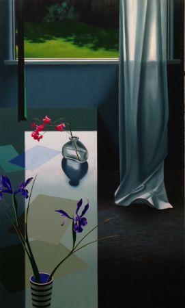 技術的なありません Cohen - Interior with Iris and Sweet Peas