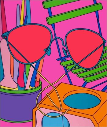 シルクスクリーン Craig-Martin - Intimate Relations: Sunglasses