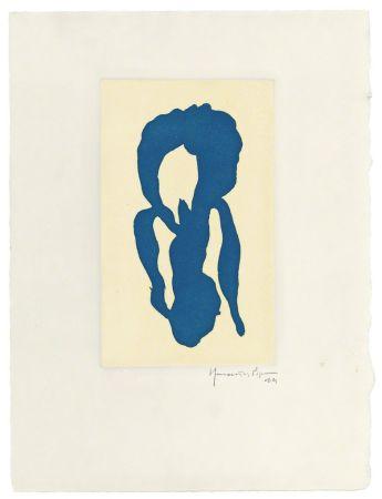 彫版 Hernandez Pijuan - Iris blau 10