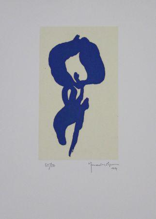 アクチアント Hernandez Pijuan - Iris Blau V / Blue Iris V