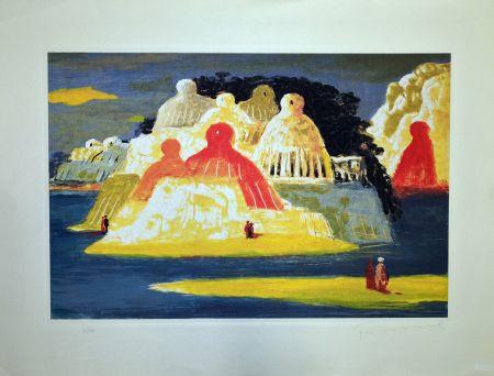 エッチング Fiume - Isola delle statue