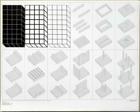 リトグラフ Superstudio - Istogrammi