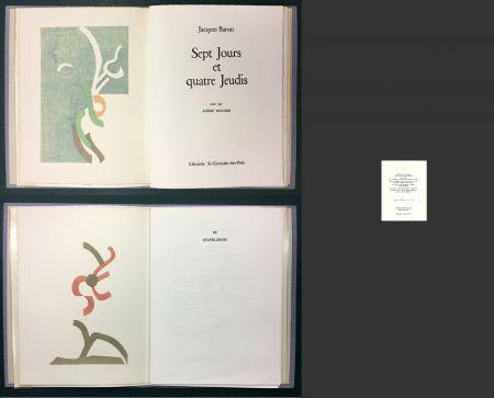 挿絵入り本 Beaudin - Jacques Baron : SEPT JOURS ET QUATRE JEUDIS. 2 lithographies originales en couleurs.