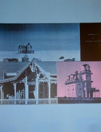 シルクスクリーン Monory -  Jacques MONORY USA 76 - The House by the railroad