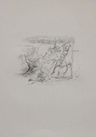 リトグラフ Slevogt - Jagd der hellenischen Soldaten