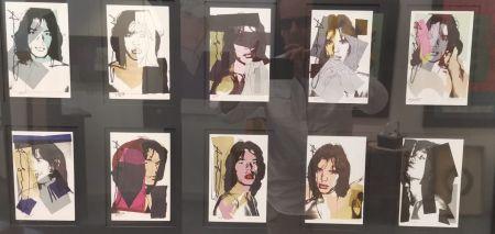 オフセット Warhol - Jagger M. invitation card - portfolio
