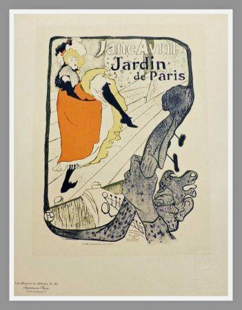 リトグラフ Toulouse-Lautrec - JANE AVRIL - JARDIN DE PARIS - TOULOUSE LAUTREC