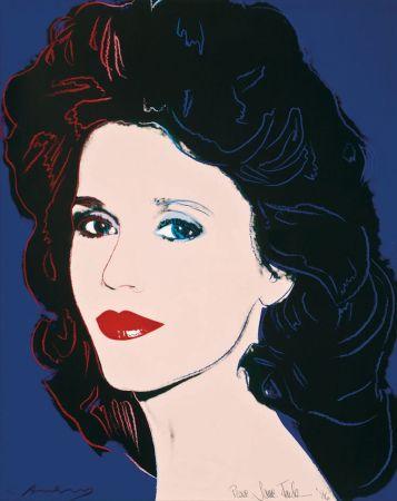 シルクスクリーン Warhol - Jane Fonda (FS II.268)